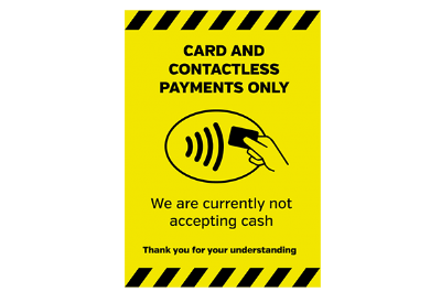 Please Pay by Card Signs
