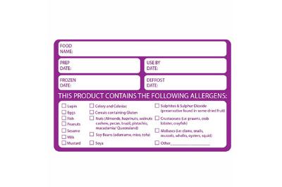 Food Prep and Allergen Labels