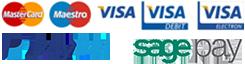 Accepted pay methods, Visa, Visa Electron, Maestro,  Mastercard, PayPal