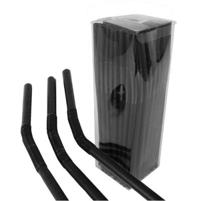 Artistic Straw Black 5mm Diameter / 26cm Length (Pack 50)