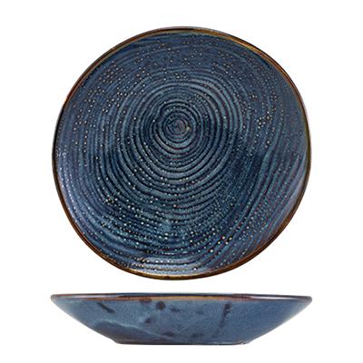 Genware Terra Porcelain Aqua Blue Organic Coupe Bowl 21.5cm