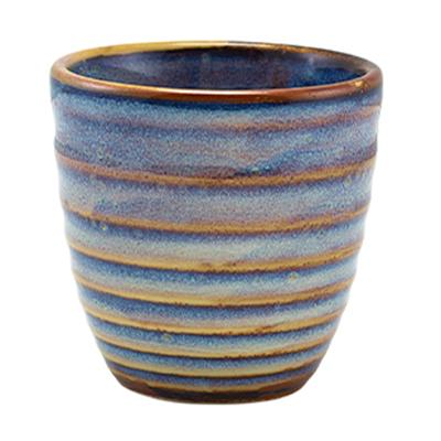Genware Terra Porcelain Aqua Blue Dip Pot 16cl / 5.6oz