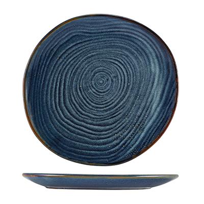 Genware Terra Porcelain Aqua Blue Organic Platter 28.5cm