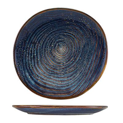 Genware Terra Porcelain Aqua Blue Organic Plate 25cm