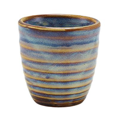 Genware Terra Porcelain Aqua Blue Dip Pot 8.5cl / 3oz