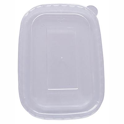 Clear PET Lid for Rectangular Kraft Bowl (500/750/1000ml) (Pack 50)